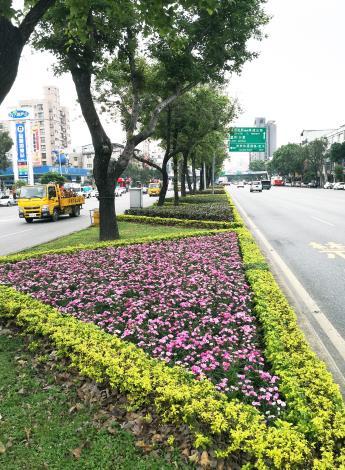 圖5.重慶北路道路綠美化現況