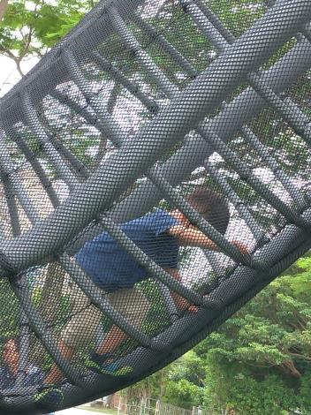 圖5. 煙囪遊戲塔的攀爬路徑可訓練孩子的肢體能力。1[另開新視窗]