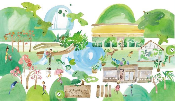 (圖一)57號小畫屋Clare 嘉筆下清新自然風的花卉試驗中心