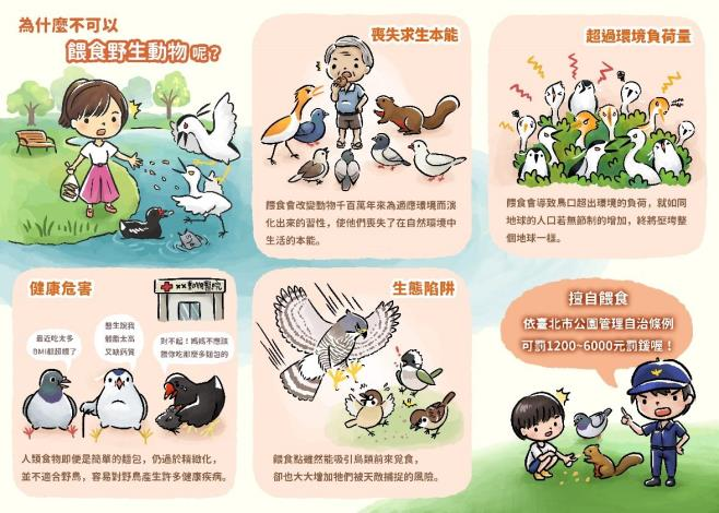 圖4.為什麼公園不可以餵食野生動物。