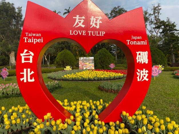 圖5.來自日本的鬱金香現在是最佳賞花期
