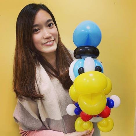 圖5  氣球米妮姊姊,於3月28日將有變魔術送氣球活動(取自氣球米妮MiniMinnie臉書)