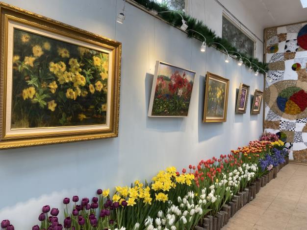 臺灣藝術大學黃美賢專任副教授油畫與球根花卉佈置