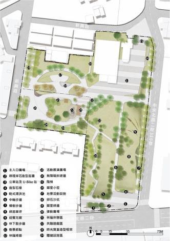 圖三 影視音園區及新興公園平面配置示意圖