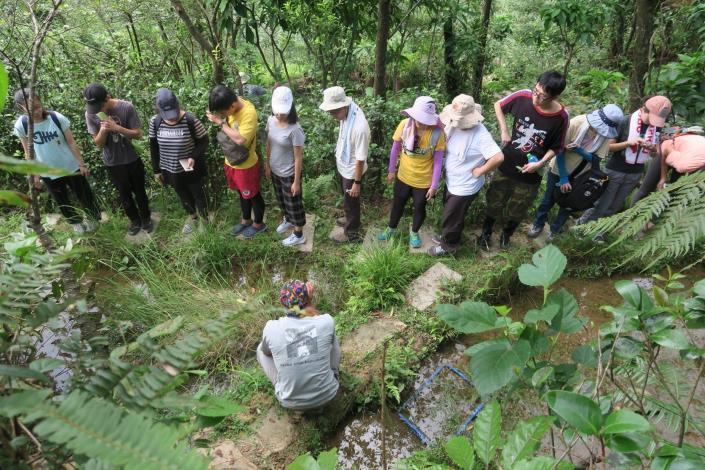 圖4.水水萃湖志工隊戶外參訪培訓課程