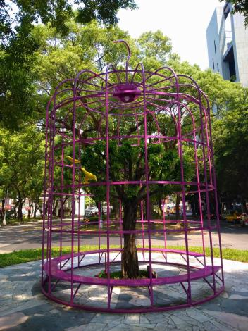 (圖1) 「鳥籠外的花園」營造出獨特造型及空間分割