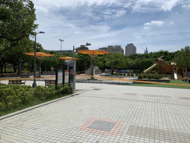 圖1. 因應疫情升溫,北市公園兒童遊戲場即日起全面暫停開放
