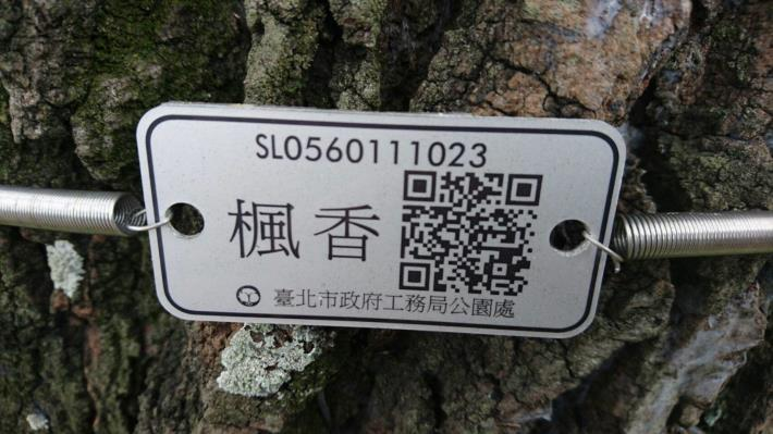 照片3.行道樹QRcode