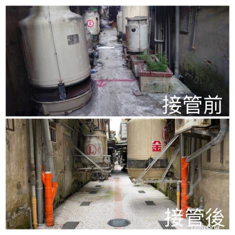 污水接管前、後,環境大改造