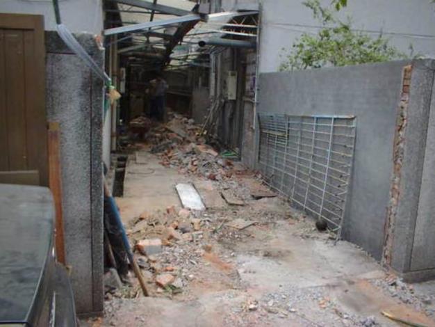 2.違建拆除後使後巷淨空寬度達3公尺