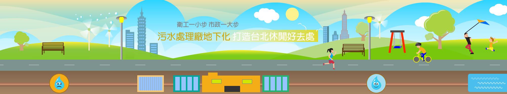 污水處理廠地下化 打造台北休閒好去處