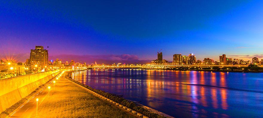 延平河濱公園夜景