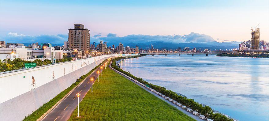 延平河濱公園黃昏景觀