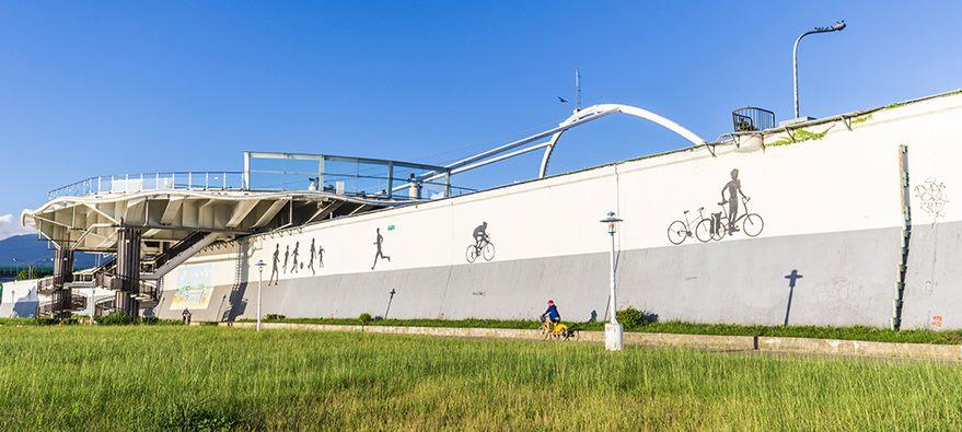 迪化運動公園休單車時光