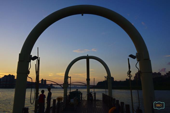 關渡河濱公園美景 讓騎乘單車充滿不同的樂趣。