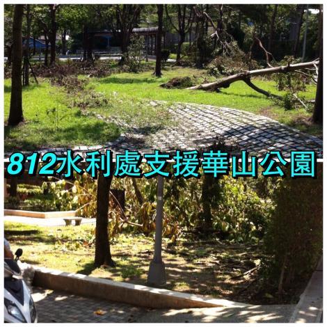 8月12日華山公園清理前