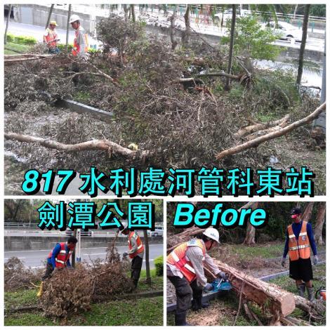 8月17日劍潭公園整理前