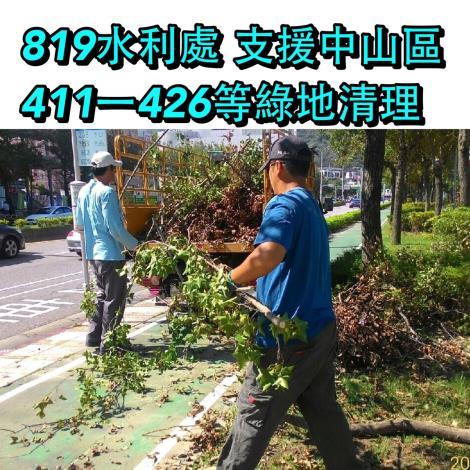 8月19日中山區411-426綠地清理大型樹技
