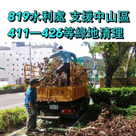 8月19日中山區411-426綠地清理樹技