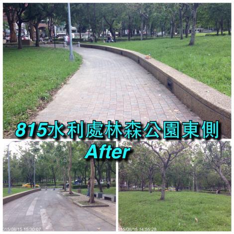 8月15日林森公園清理後