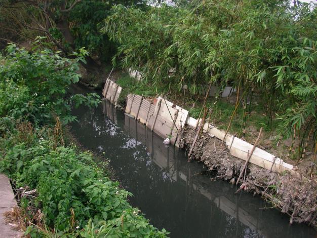 因兩岸淤積造成河道斷面窄小,影響通水性能