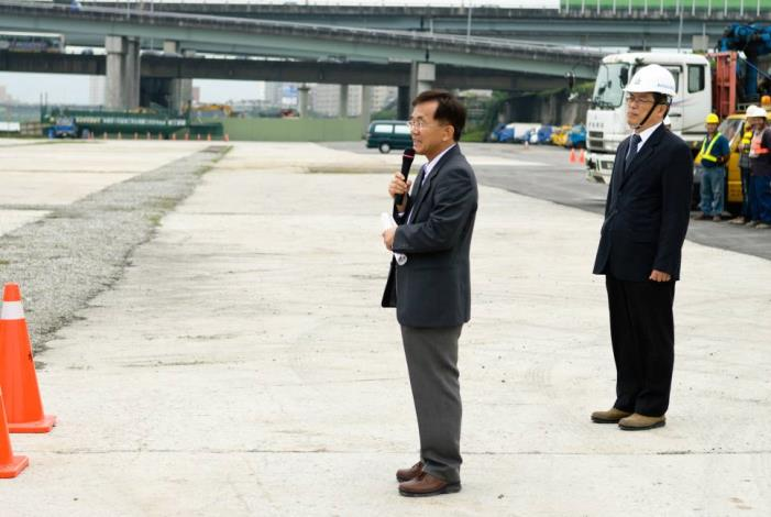 Director of Tenth River Management Office, Water Resources Agency gives remarks.(水利署第十河川局局長致詞)
