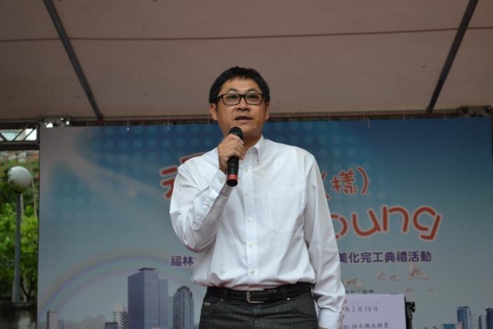 臺北市議會陳議員建銘蒞臨會場致詞(Taipei City Councilor Chien-ming Chen gives an address.)