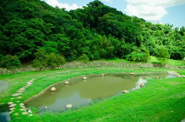 大溝溪生態治水園區生態池景觀(Ecological pond in the Ecological and Flood Control of Dagoi Stream Park)