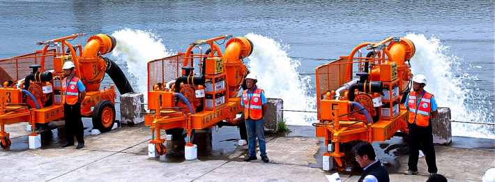 Operation Drill of Mobile Pump Sets during Flood Prevention Exercise