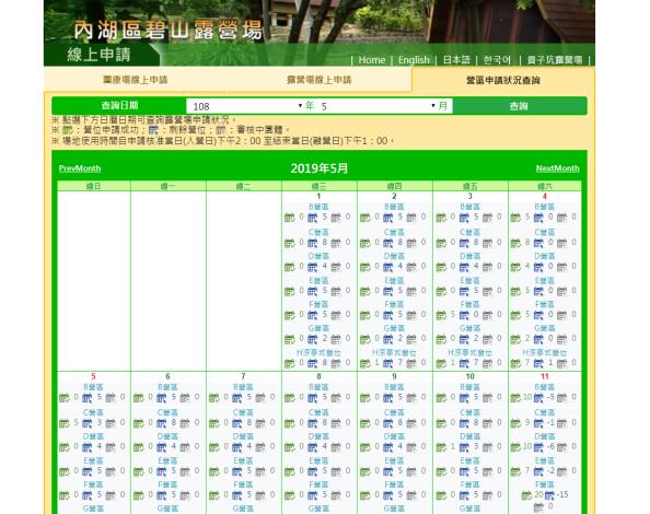 圖4_露營場申請狀況查詢系統