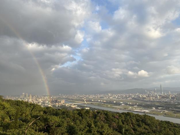 劍潭山觀景台,遠眺臺北盆地