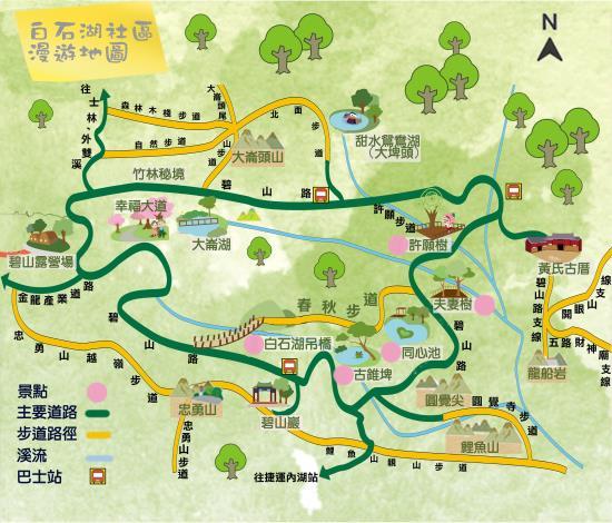 臺北市內湖區白石湖社區漫遊地圖