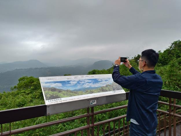 照片5 竹林秘境遠眺內湖山景。