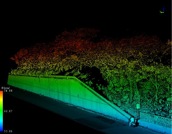 圖3車載移動式測繪點雲成果