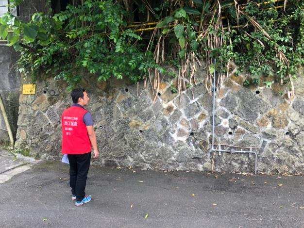 圖1:巡查砌石擋土牆現況