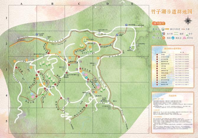 1.竹子湖步道群地圖