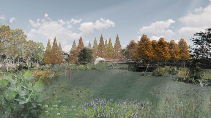 圖片3:公園模擬圖(生態池)