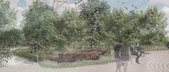 圖片1:公園模擬圖(入口廣場)