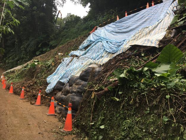 護坡工程施工前調查照片(今年度颱風造成邊坡滑落,正辦理規劃設計一併復建)