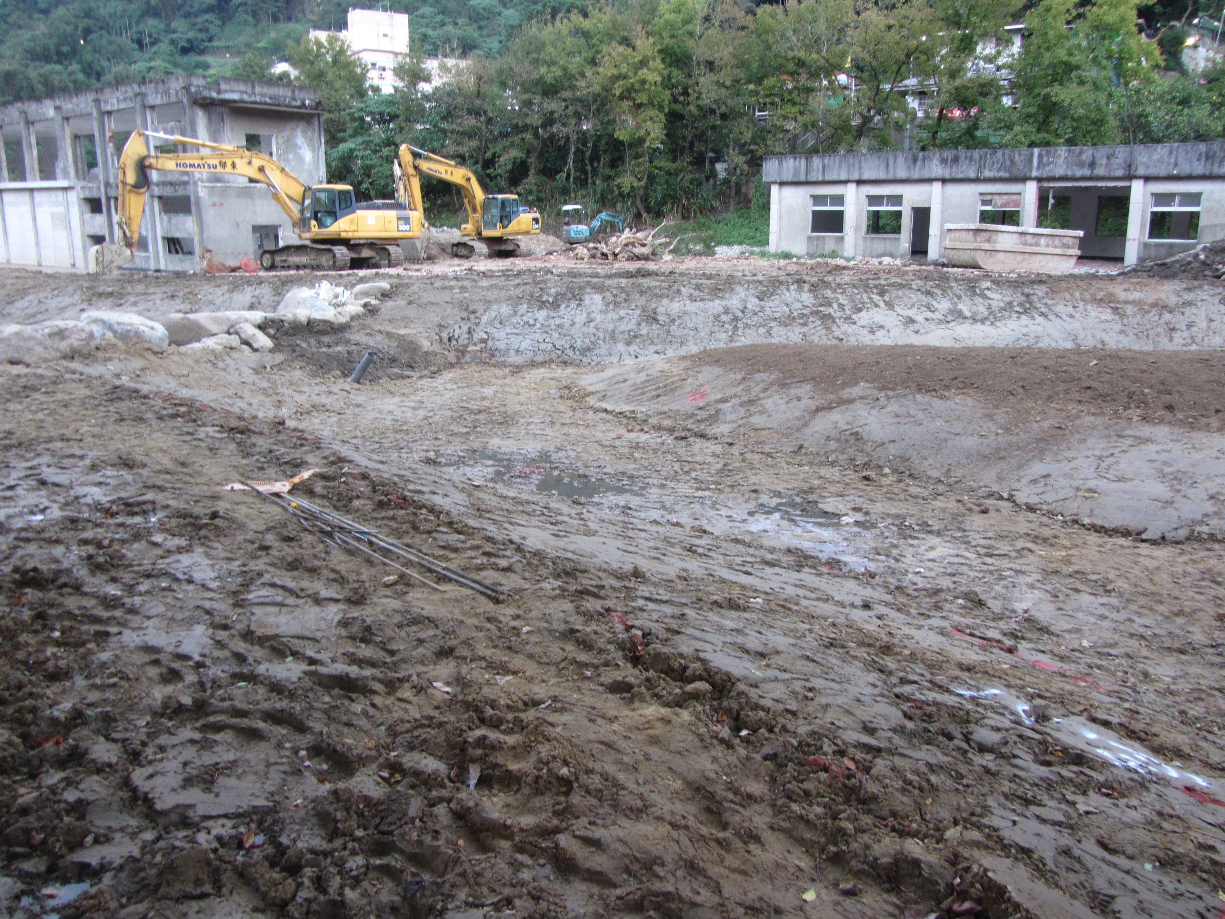 生態池開挖整地