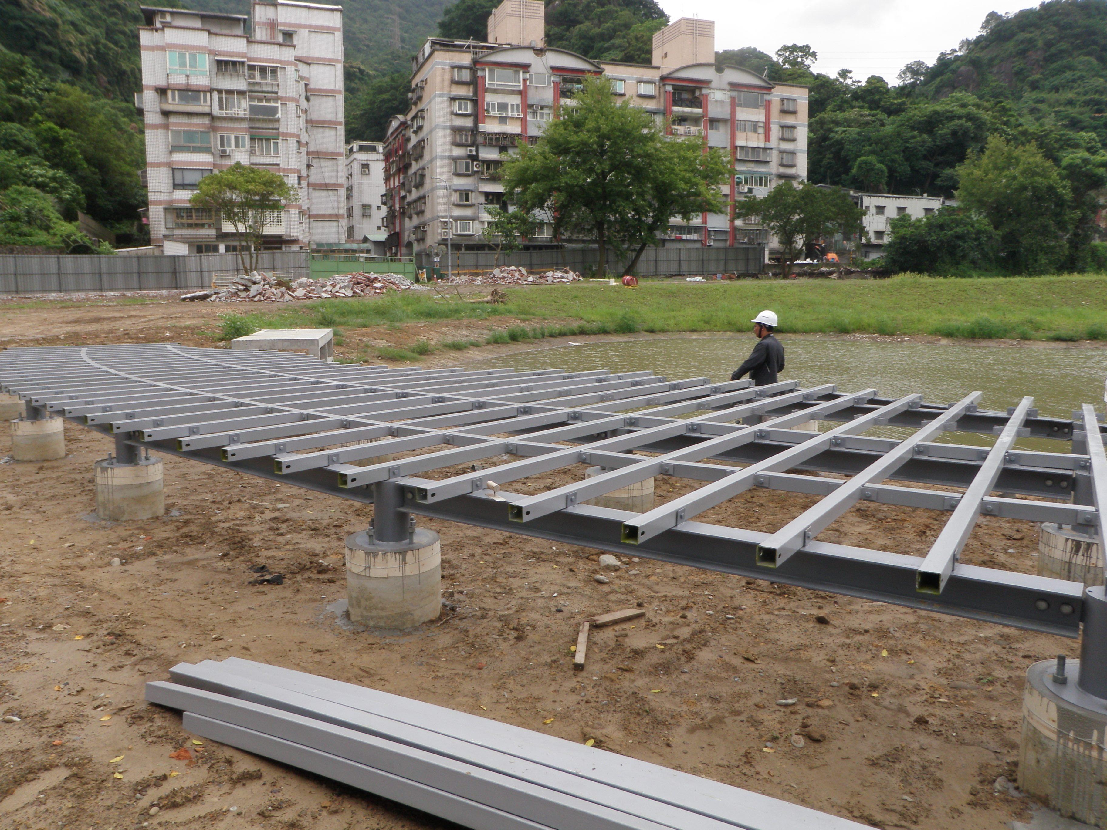 觀水平台鋼構組立
