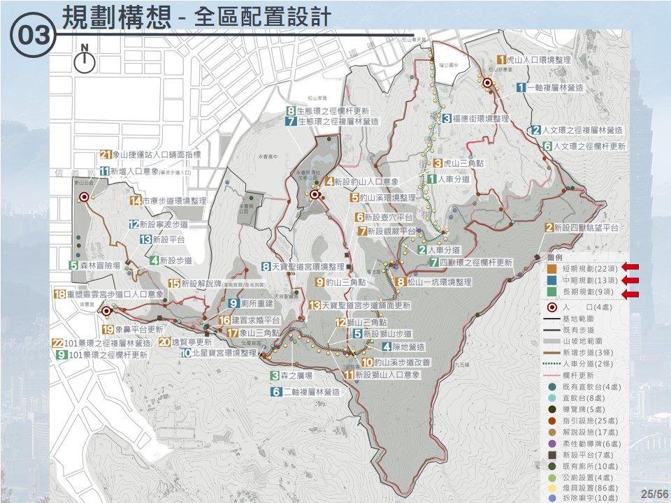 四獸山整體規畫全區配置圖