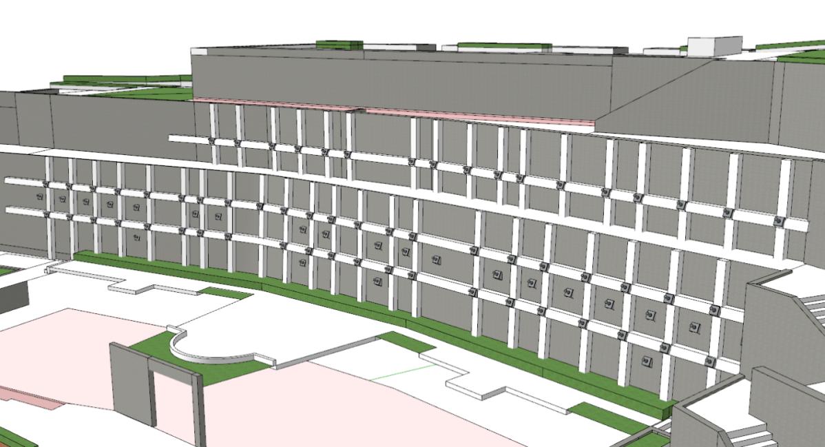 B棟下方擋土牆施工後模擬