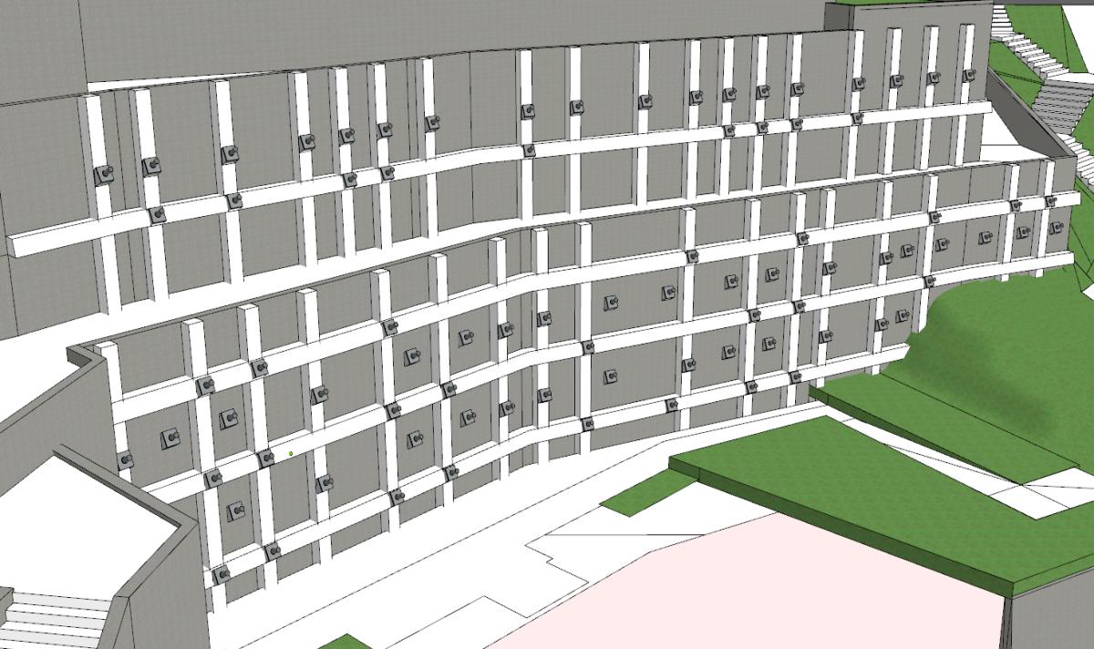 D棟下方擋土牆施工後模擬