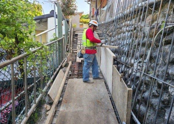 擋土設施加固施工作業