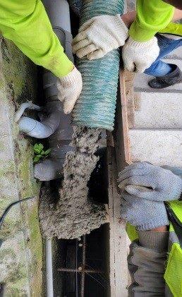擋土設施加固灌漿作業