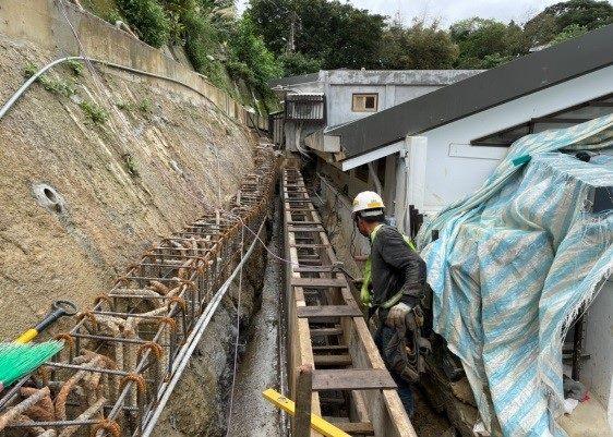 排水溝模板作業