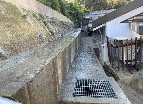 帽樑及排水溝完成面