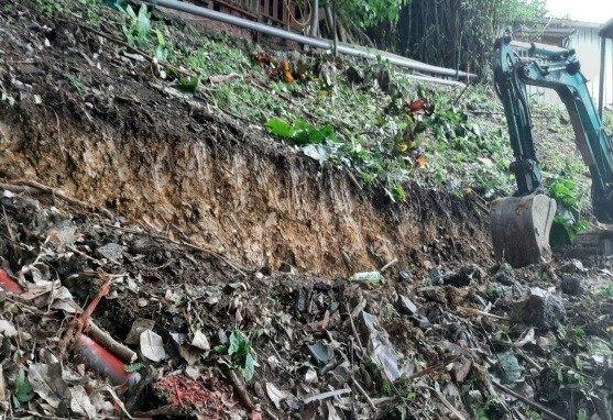 客土袋溝開挖作業