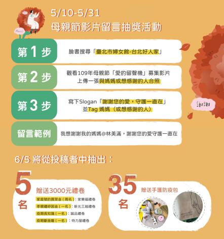 109年母親節慶祝影片【愛的留聲機】留言活動規則